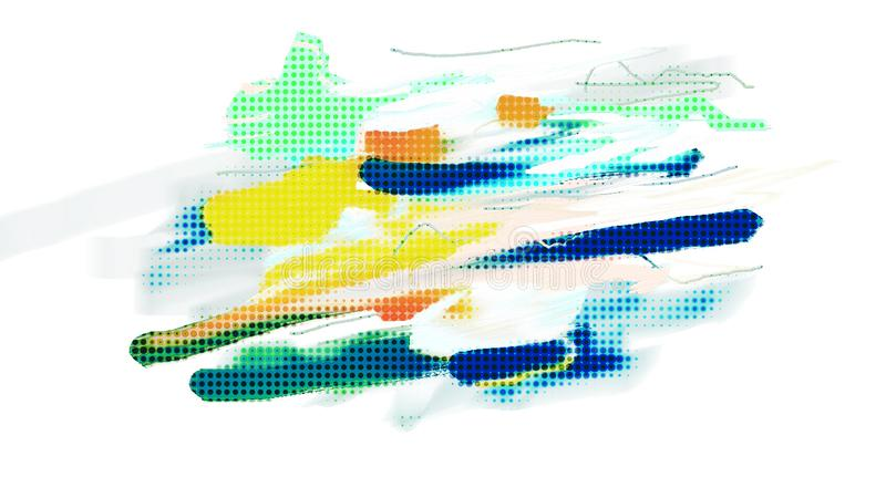 Abstract Background. Bitmap Illustration. Dots Pattern. Created with Microsoft Fresh Paint stock illustration