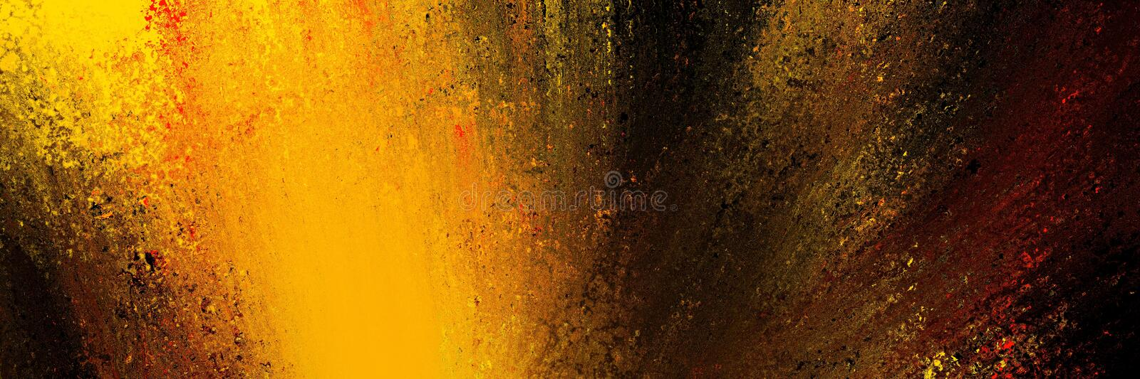 Abstract background in black with bright orange yellow and red paint in color splash design, colorful explosion or dramatic brush vector illustration