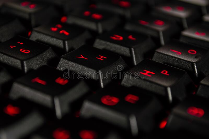 Abstract Background Of Black Computer Keyboard Stock Photo Image Of Communication Digital 177549758