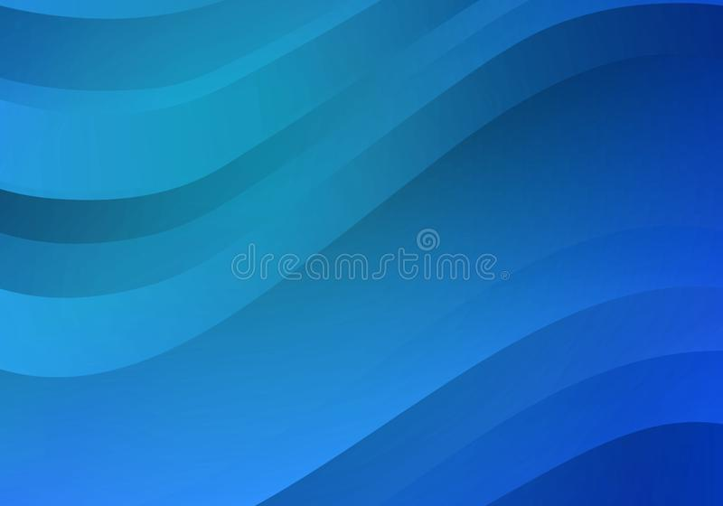 Abstract Background with Blue Gradient Waves. Vector Minimal Banner.  stock illustration