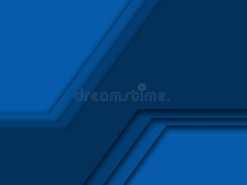 Abstract background with blue layered paper Deep blue dark banner, geometric brochure layer illustration vector illustration