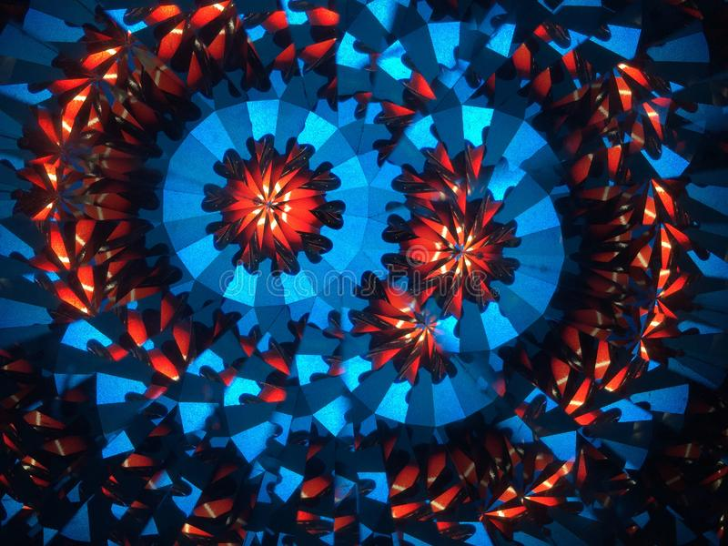Abstract background. Blue, red, white and black stock photography