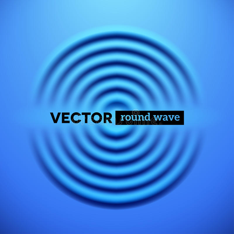 Abstract background with blue ripple waves stock illustration