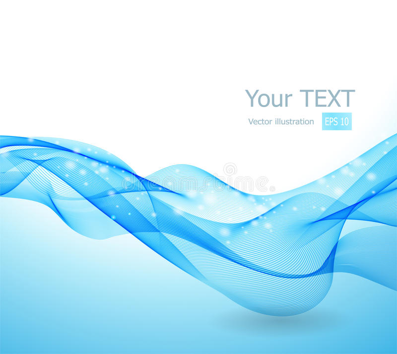 Abstract background with blue wave royalty free illustration