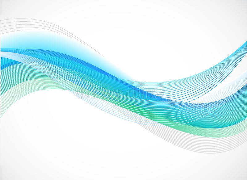Download Abstract Background Of Blue Wave On White Stock Vector - Illustration of frame, flow: 19658189