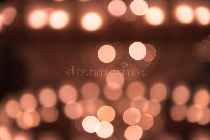 Abstract background of blurred lights. Holiday and illumination, decorative lighting theme.  royalty free stock photos