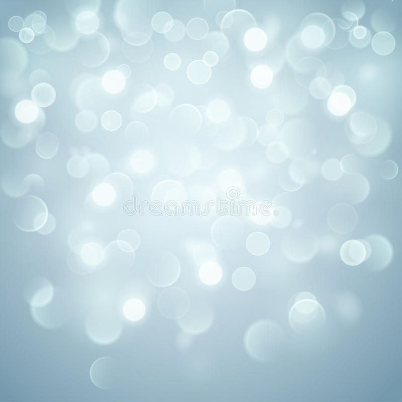 Abstract background with bokeh effect in light blue vector illustration