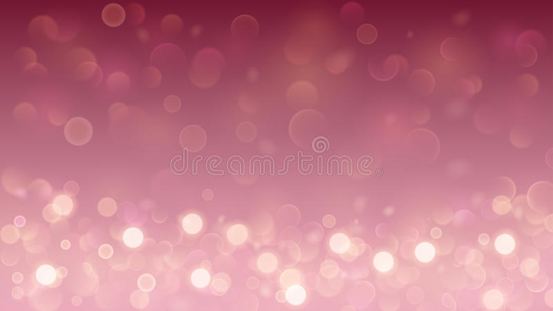 Abstract background with bokeh effect in pink stock illustration