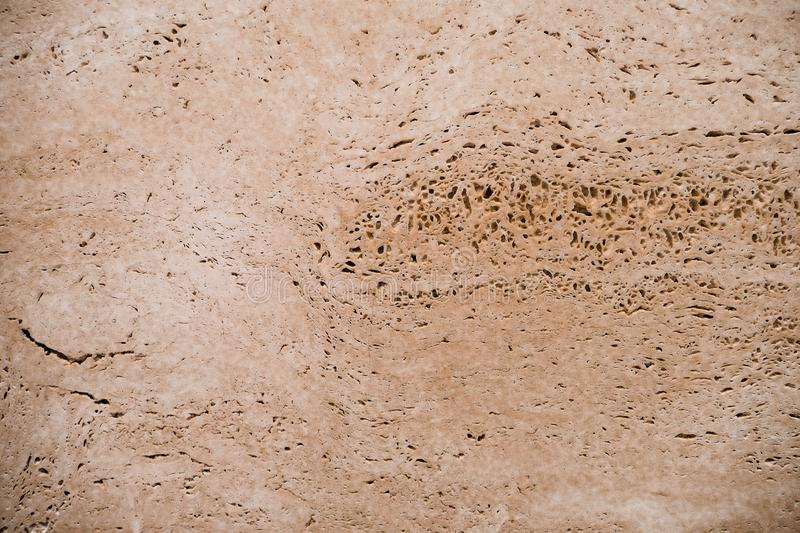 Abstract background, brown porous texture, nature stone. Rough surface texture stock photography