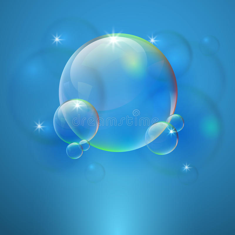Abstract background with bubbles royalty free stock image
