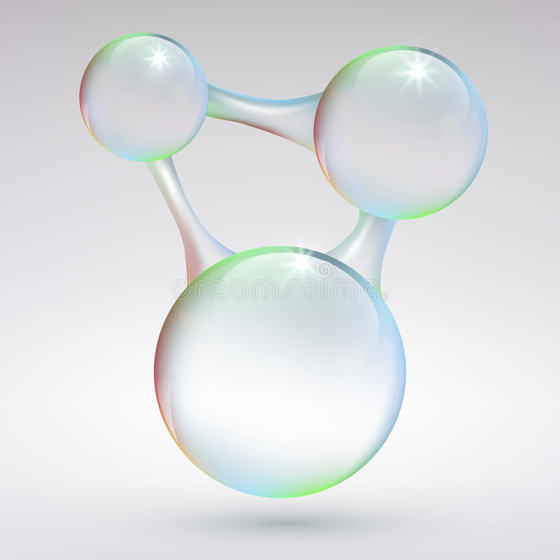 Abstract background with bubbles. royalty free stock photos