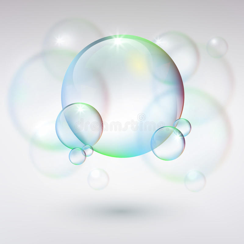 Abstract background with bubbles stock photography
