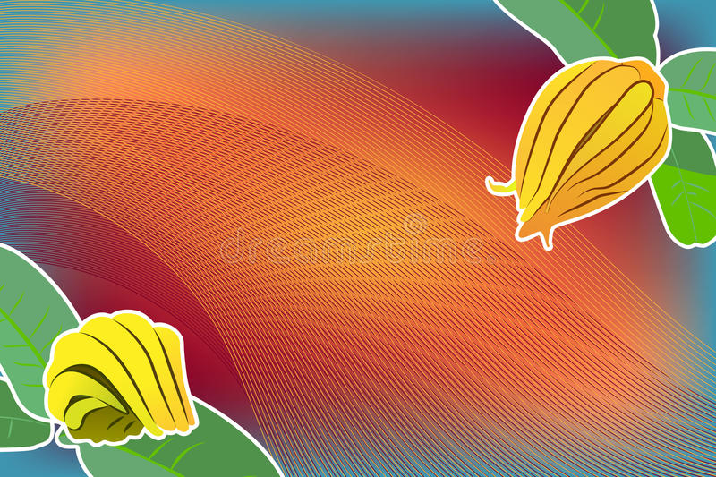 Abstract background with the Buddha`s hand. Red and orange lines vector illustration