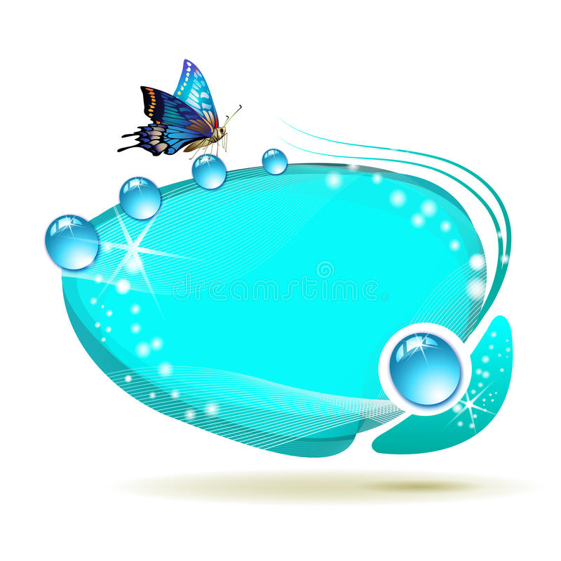 Abstract background with butterfly stock illustration