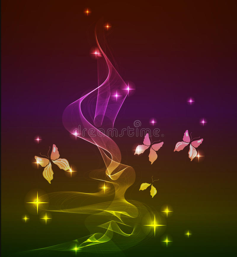 Abstract background with butterfly. Over dark vector illustration