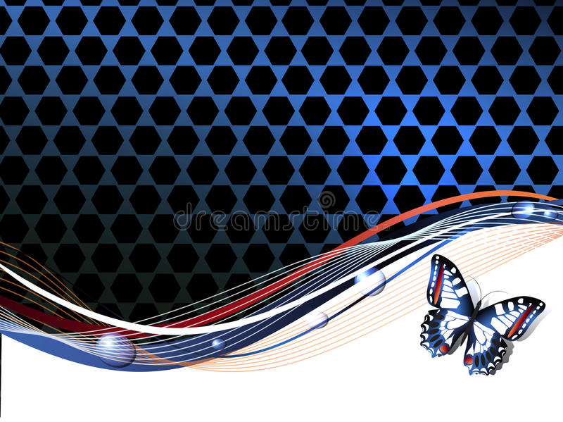 Abstract Background with Butterfly. Copyspace for Your Text vector illustration