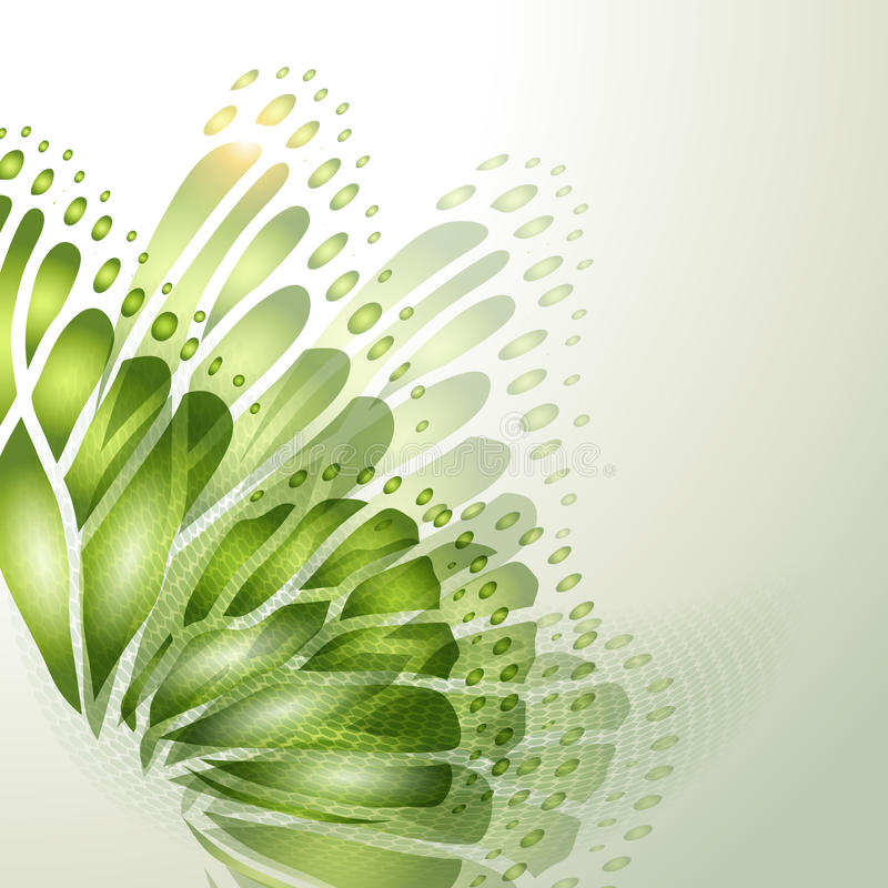 Abstract background with butterfly. Abstract background with green butterfly stock illustration