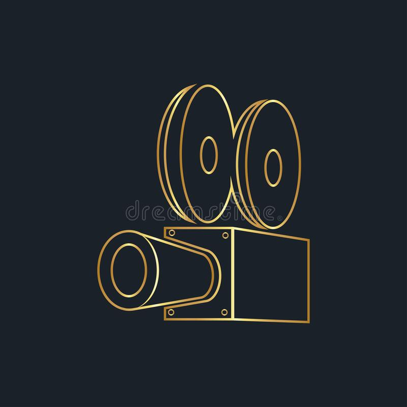 Abstract background for camera, Gold color, vector illustrations. Abstract background for camera, Gold color vector illustrations royalty free illustration