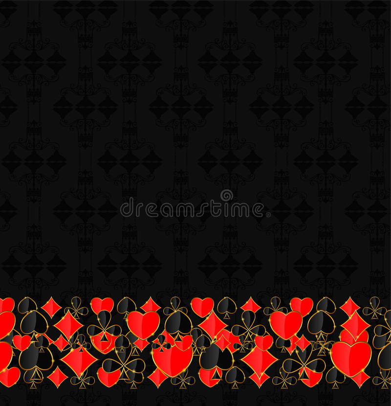 Download Abstract Background With Card Suits For Design. Stock Photo - Image: 30952588