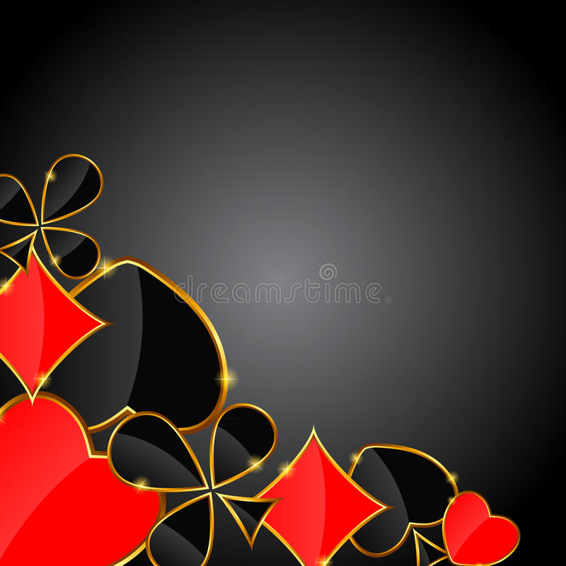 Abstract background with card suits for design. stock illustration