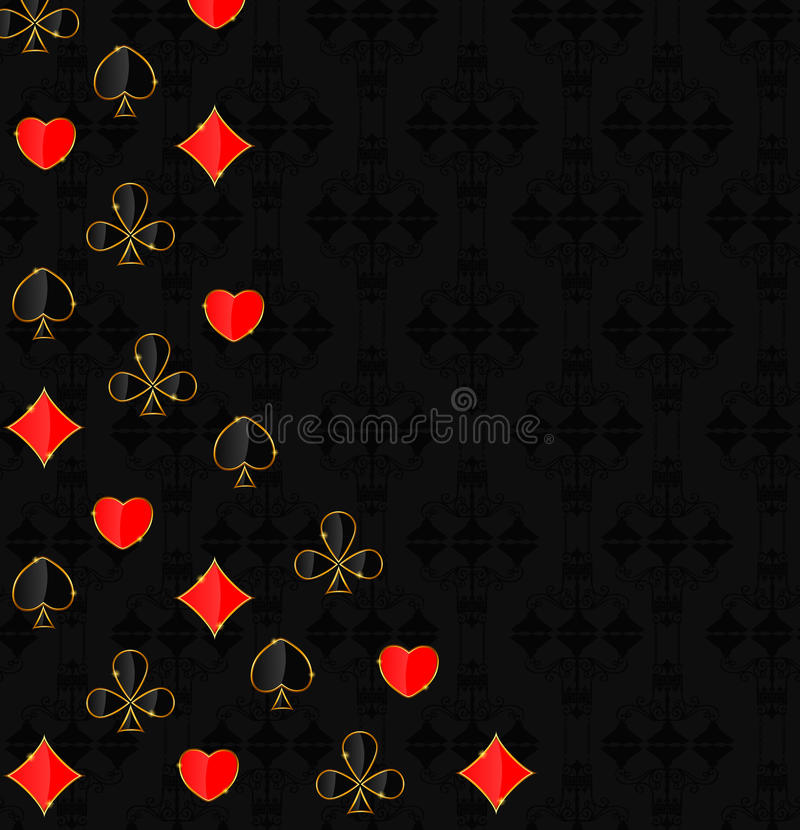 Download Abstract Background With Card Suits For Design. Stock Photo - Image of concepts, character: 30997408