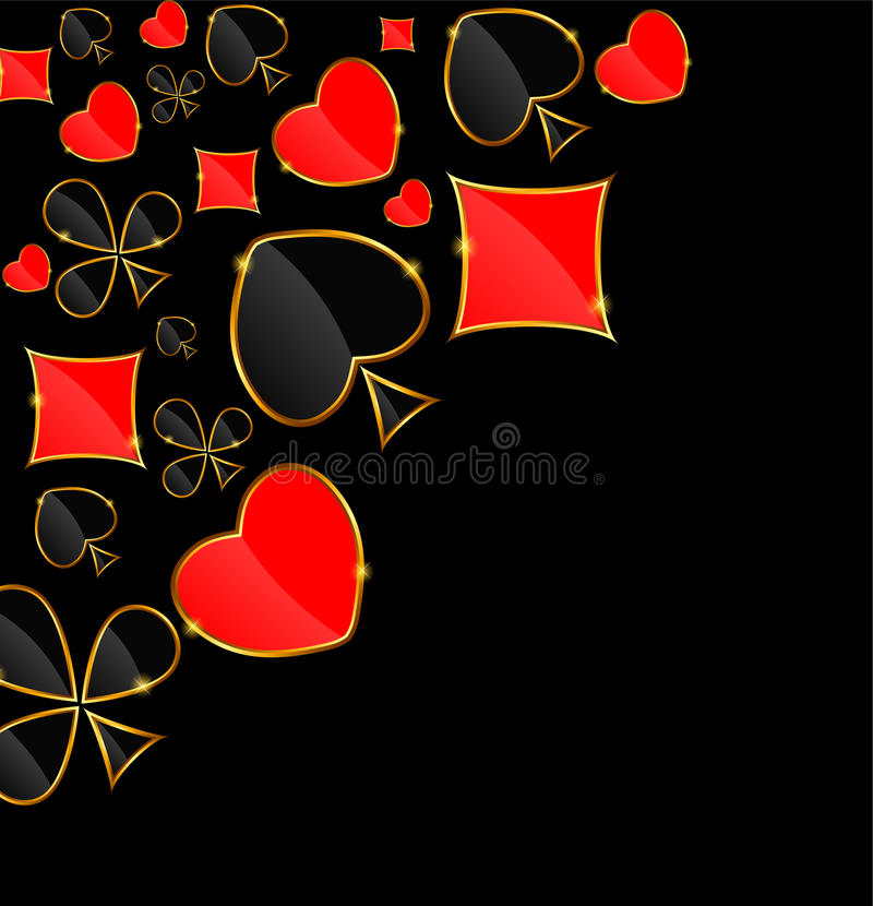 Abstract Background with Card Suits for Design. royalty free illustration