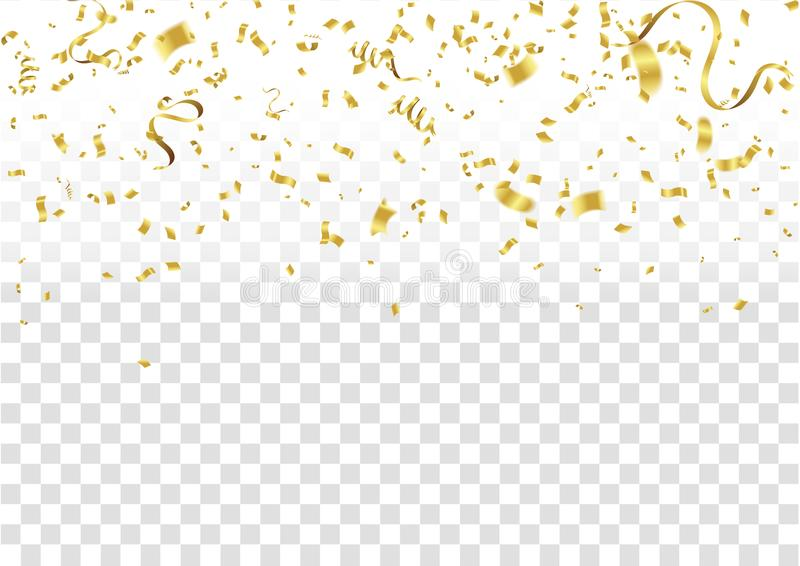 Abstract background celebration gold confetti. vector background stock illustration