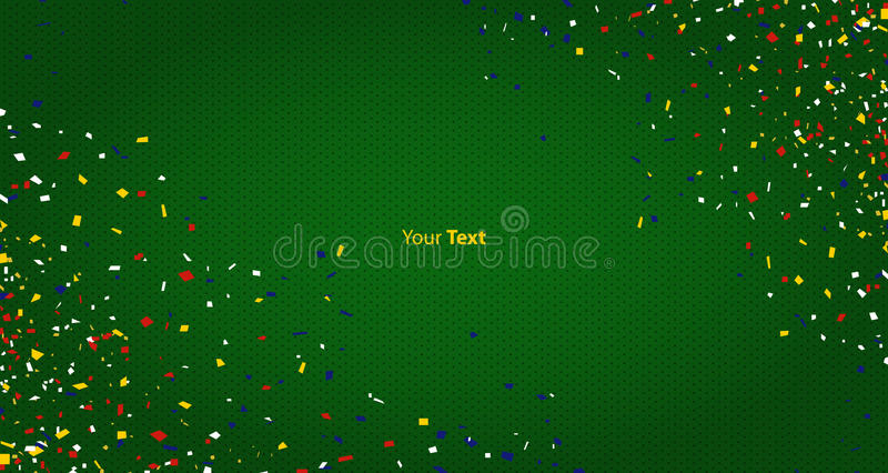 Abstract background for celebration party with confetti. Dot pattern background. Vector stock illustration