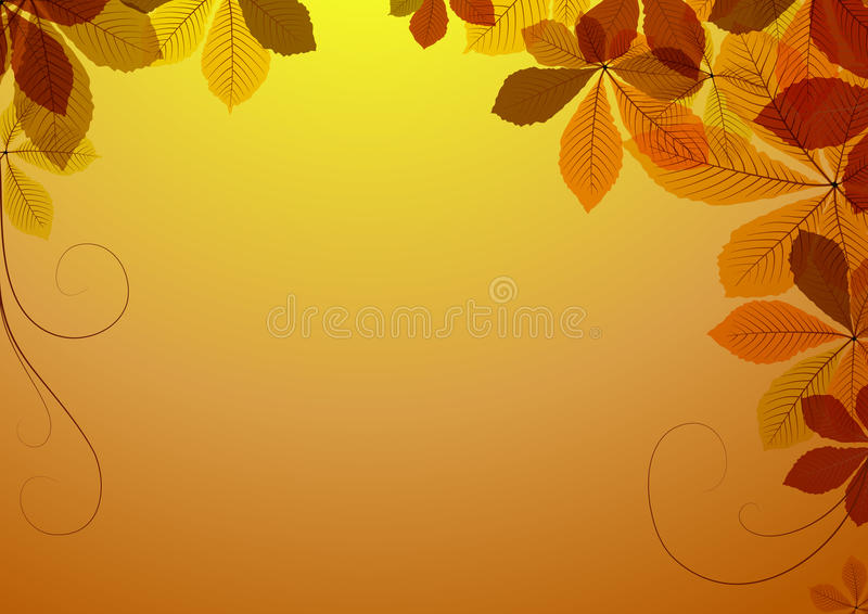 Abstract Background With Chestnut Leaves Royalty Free Stock Photo