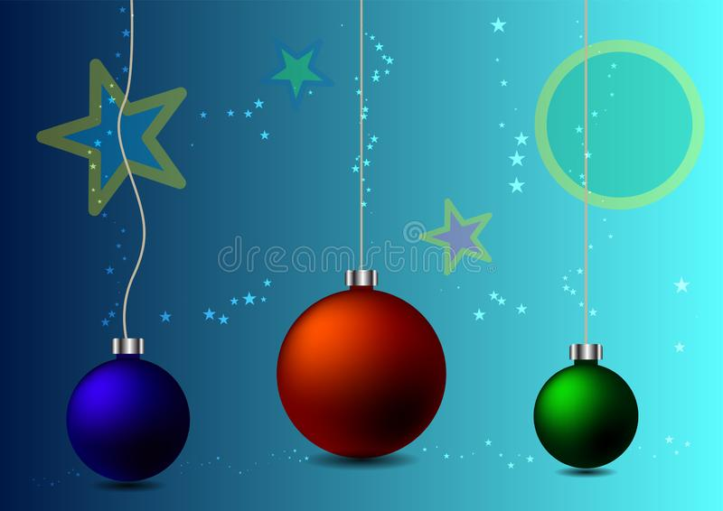 Abstract background christmas balls royalty free illustration