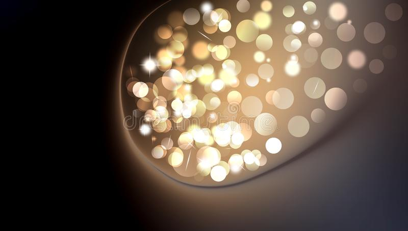 Abstract background Christmas magic sparkle, light dots, vector bokeh effect. background wallpaper. stock illustration
