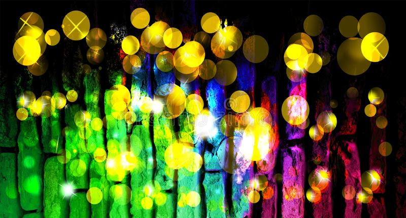 Abstract background Christmas magic sparkle, light dots, vector bokeh effect. background wallpaper. stock photography