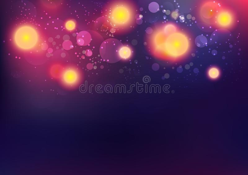 Abstract background, Christmas and new year, Bokeh seasonal holiday celebration vector illustration. Abstract background, Christmas and new year, Bokeh seasonal royalty free illustration