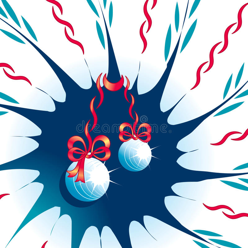 Abstract background with Christmas toys and tapes