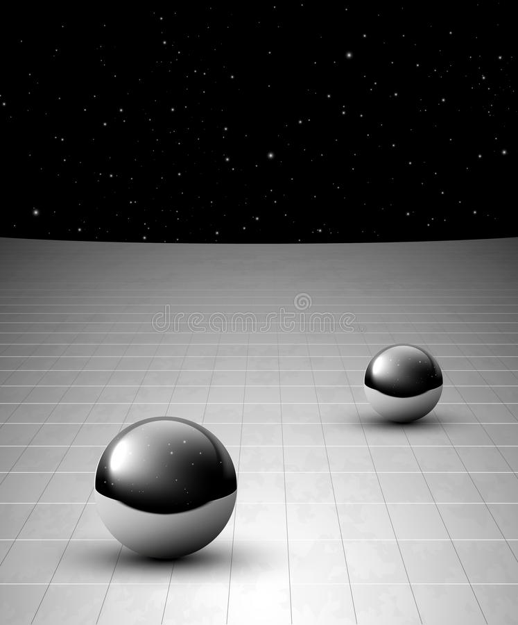 Download Abstract Background With Chrome Balls Stock Illustration - Image: 22521432
