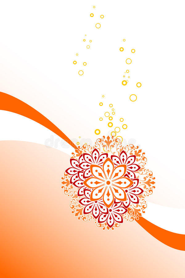 abstract background with circles and flowers, vector illustration royalty free stock photography