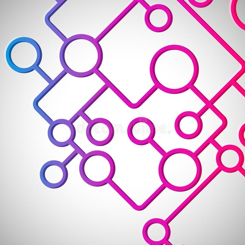 Abstract background with circles and lines design elements. Vector illustration stock illustration