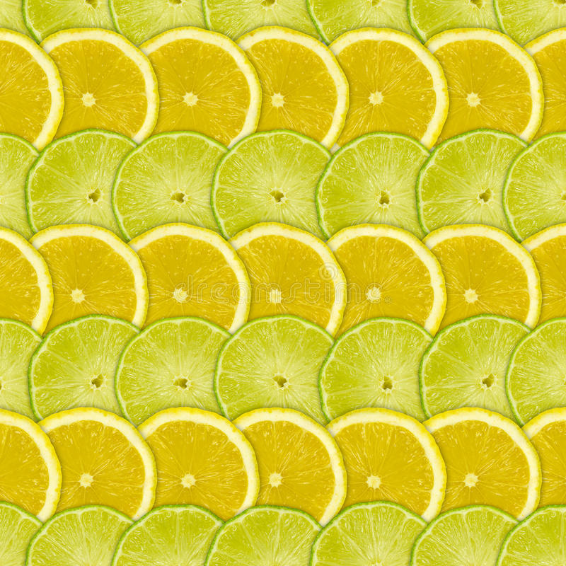 Abstract background with citrus-fruits slices of lemon and lime. Closeup stock image