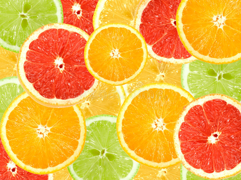 Abstract background of citrus slices. Close-up. Studio photography stock photos