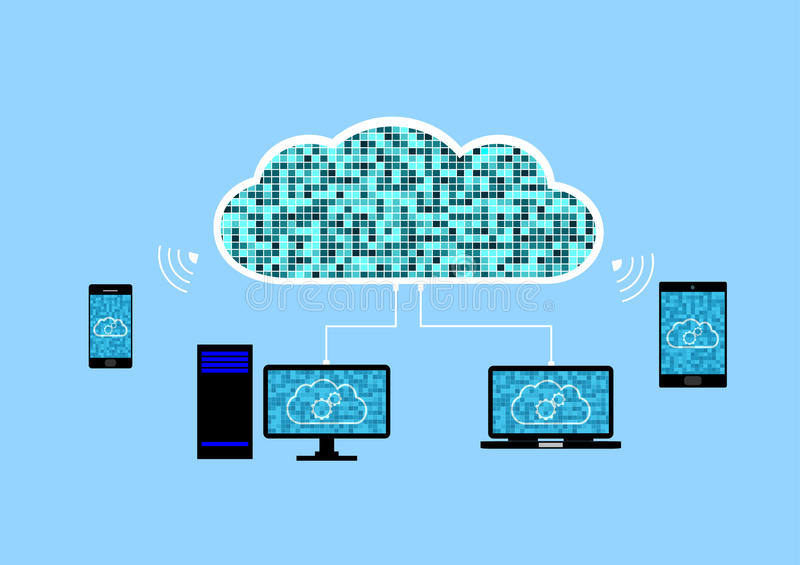 Abstract background Cloud technology concept vector illustration
