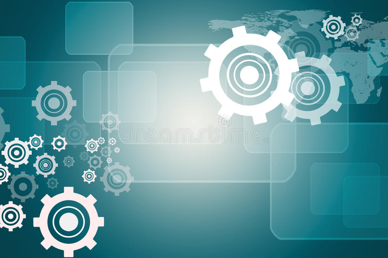 Abstract background with cogs and world map stock image image of abstract blue background with cogs and world map gumiabroncs Image collections