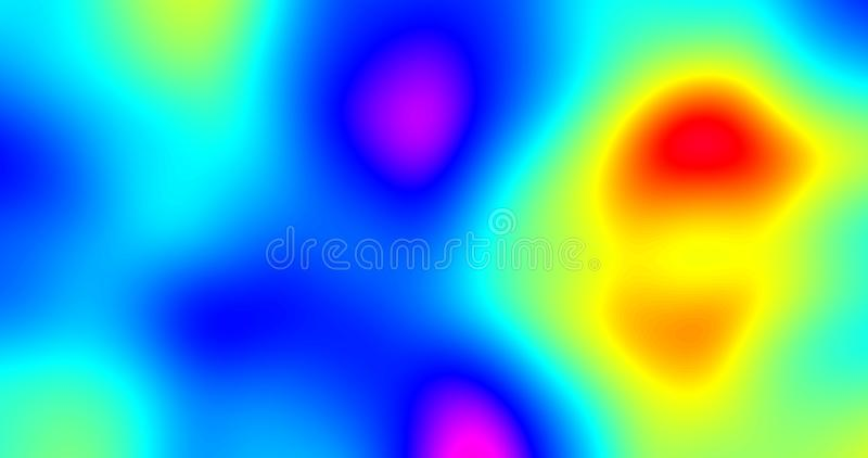 Abstract background with color gradient and iridescent fluid shapes effect. Chromatic liquid color flow gradient pattern and stock illustration