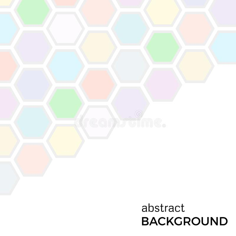 Abstract background with color hexagons elements royalty free illustration