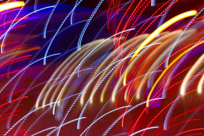 Abstract background with color light trails stock photos