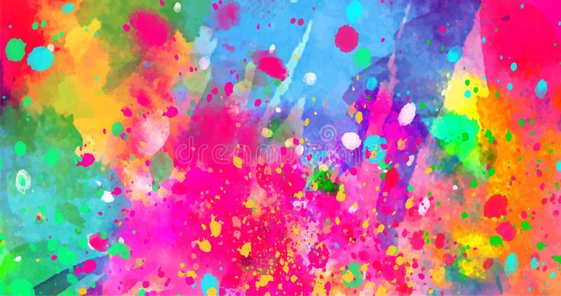 Abstract Background Of Color Stains Of Paints Stock Vector