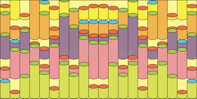 Abstract Background With Colored Cylinders set stock photos