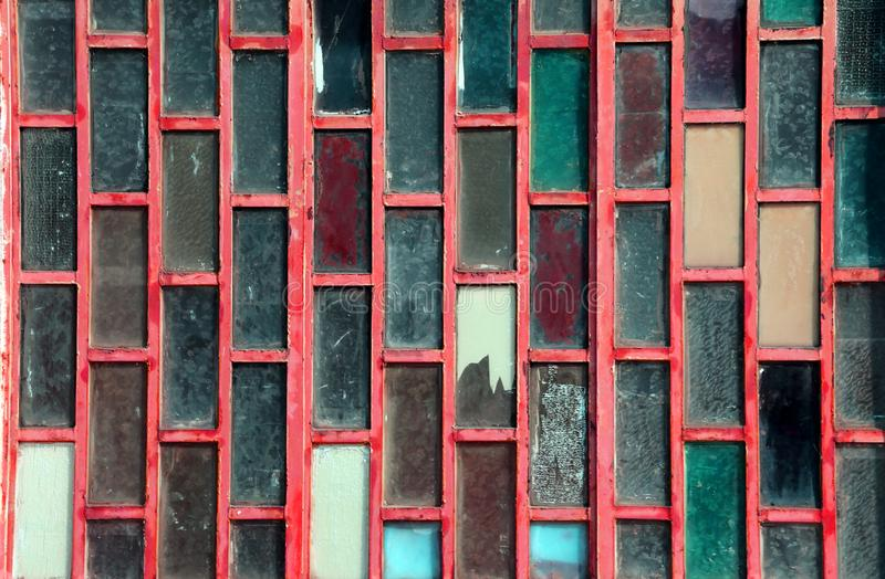 Abstract background of colored glass rectangles royalty free stock image
