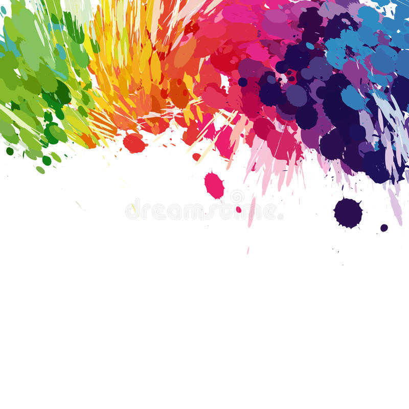 Abstract background of colored splashes