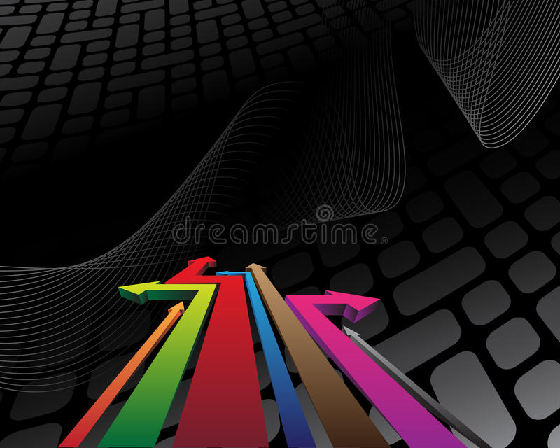 Abstract background with colorful arrows. And place for your text vector illustration