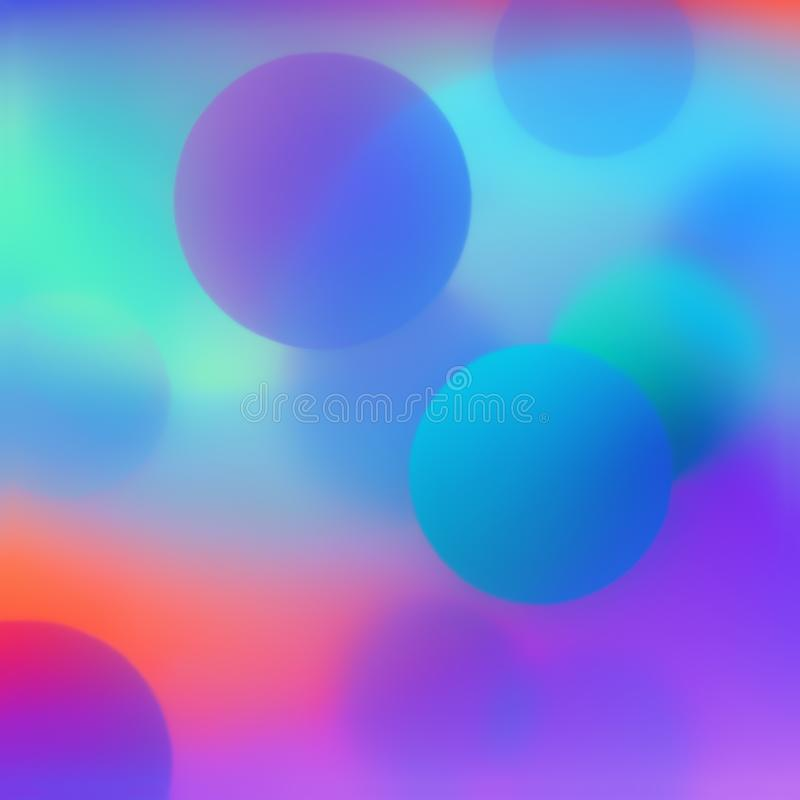 Abstract Background With Colorful Balls And Bokeh royalty free stock photos